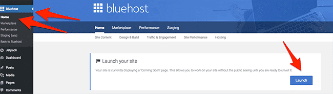 Launching Your Site With Bluehost